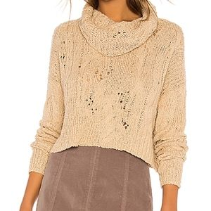 NWOT Free People Shades of Dawn Crop Sweater